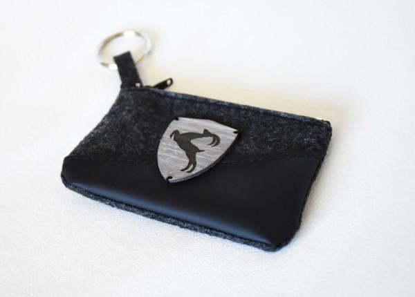 Schlüsseltasche mit Bock auf Tirol- Emblem