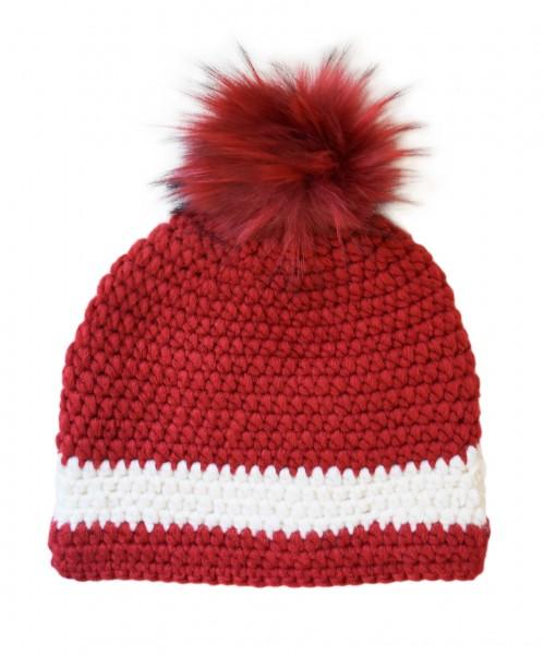 Tiroler Ski-Mütze rot