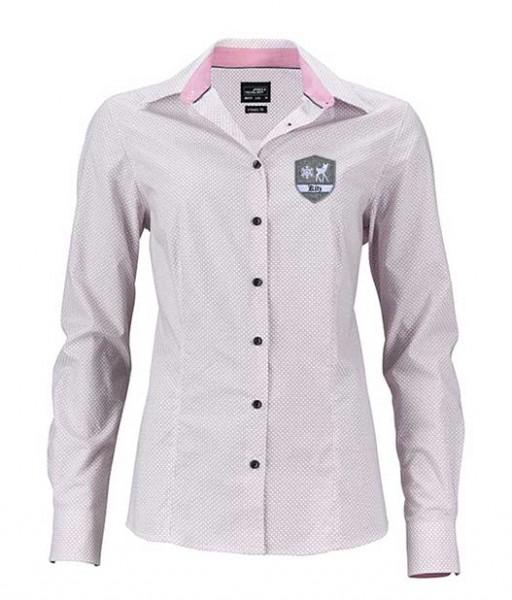 Damen Bluse - rosé, mit Kitz-Emblem