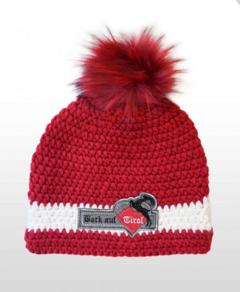 Mütze Rotwild mit Swarovski-Applikation