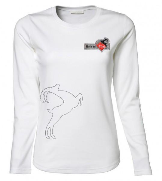 Damen Langarm-Shirt - weiß