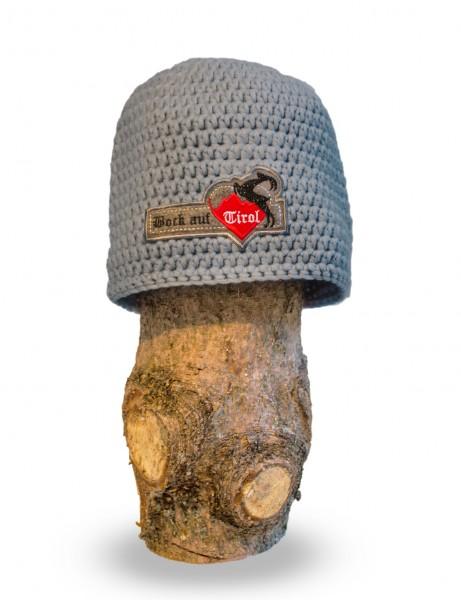 Mütze Grauwild - veredelt mit Swarovski Kristallen