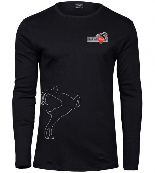 Herren Langarm-Shirt - schwarz